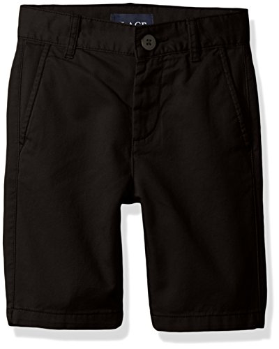 The Children's Place Boys Size Uniform Chino Shorts, Black, 7 Slim by The Children's Place