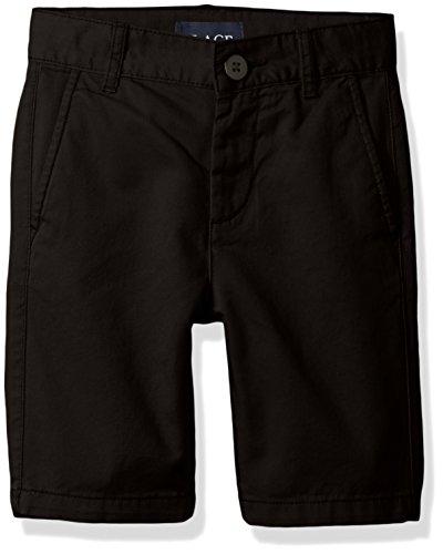 The Children's Place Boys' Husky Uniform Chino Shorts, Black, 12