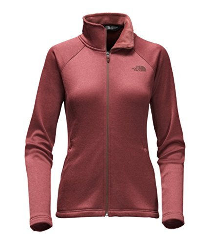 The North Face Red Fleece (The North Face Women's Agave Full Zip Fleece Jacket - Barolo Red Heather - XL (Past Season))