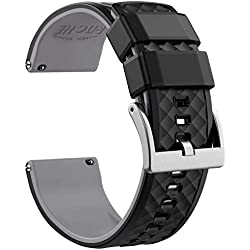 18mm Silicone Watch Bands Compatible with Huawei Watch Quick Release Rubber Watch Bands for Men