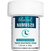 Ebanel 5% Lidocaine Topical Numbing Cream Maximum Strength 1.35 Oz, Numb 520 Pain Relief Cream Anesthetic Cream Infused…