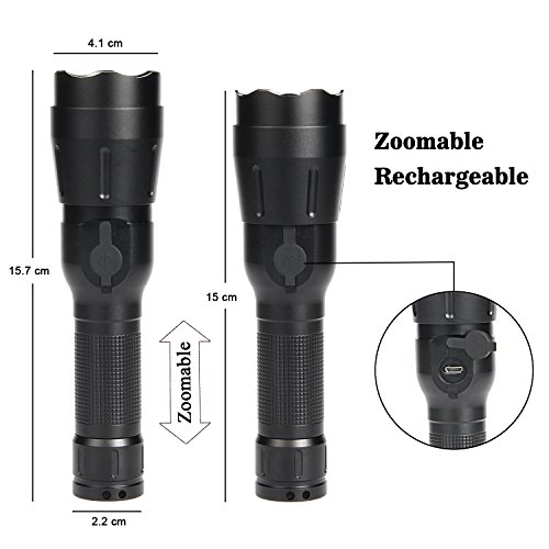 Usb Focus Lampe Réglable Lumens Rechargeable 4 980 Torche Ultrafire DYWH9eIE2