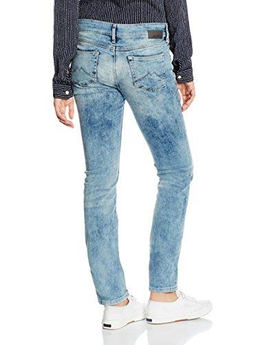 Vintage Zipper Bleached 507 Blau Super Mustang Femme Jeans Bleu Jasmin 7YHxn5wgBq