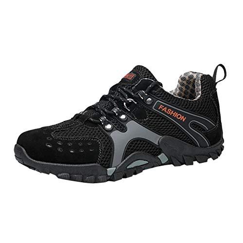 YOcheerful Men's Casual Flat Shoes,Outdoor Water Shoes Pool Beach Swim Comfort Walking Travel Shoe