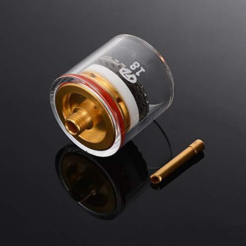 SNOWINSPRING 5Pcs Tig Chalumeau Coupe Champagne Coupe Stubby Coupe Gaz Buse Collet Kit pour Wp-9//20//25 3//32 Pouce 2,4 Mm