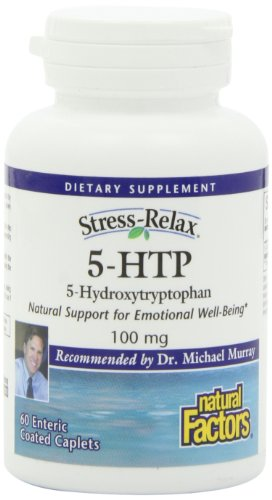 Natural Factors Stress-Relax 5-HTP 100mg, 60 capsules à enrobage entérique