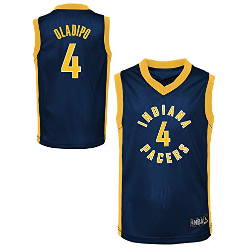 Outerstuff NBA Toddler Team Color Player Name & Number Replica Road Jersey (3T, Victor Oladipo Indiana Pacers)