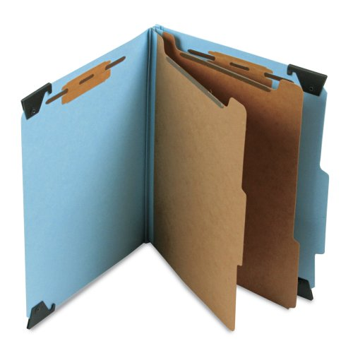 Divider Pressboard 2 (Smead FasTab Hanging Pressboard Classification File Folder with SafeSHIELD Fasteners, 2 Dividers, 2