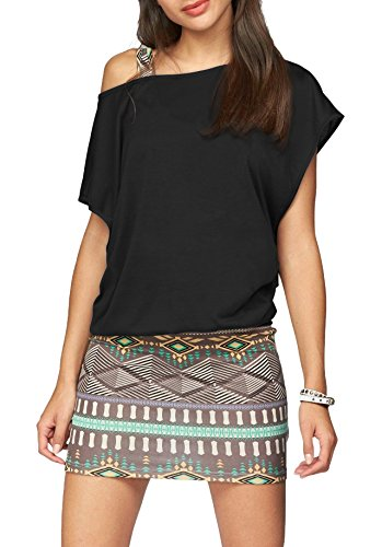 Jusfitsu Women Summer Outfits 2 Piece Dresses Casual Loose Shirt Top Print Bodycon Mini Tank Dress Off Shoulder