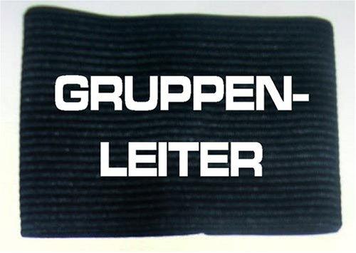 Armbinde bedruckt mit GRUPPENLEITER / schwarz / 3304 SPORT & DRUCK