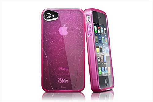 iSkin Claro Glam Case for iPhone 4/4S Color: Pink - Retail Packaging - Black ()
