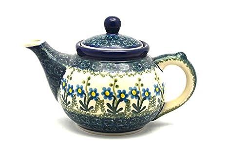 Amazon.com: Polaco Tetera de cerámica – 14 oz., Color Azul ...