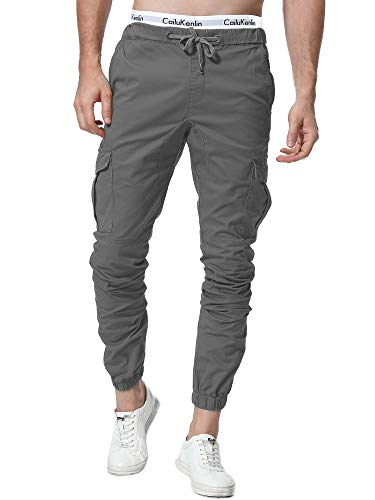 23c3662a ZOEREA Jogger Cargo Men's Chino Jeans Casual Trouser Outdoor Working Pants  (Gray-New Version, 2XL)