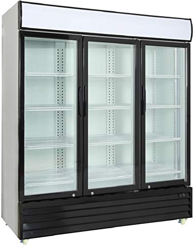 (Procool Commercial Glass 3-Door Merchandiser - Upright Reach In Beverage Cooler - Display Refrigerator - 56.5 Cubic)