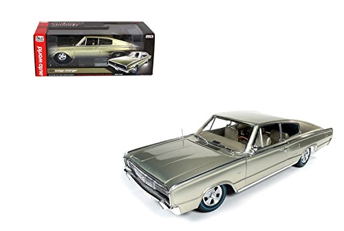18 1966 Dodge Charger - AUTO WORLD 1:18 AMERICAN MUSCLE - 1966 DODGE CHARGER - 50TH ANNIVERSARY (1966-2016) AMM1067