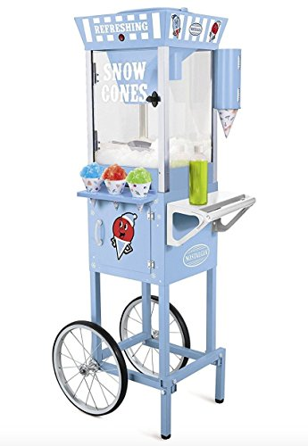 Nostalgia Electrics Vintage Snow Cone Cart, Snow Cone Machine