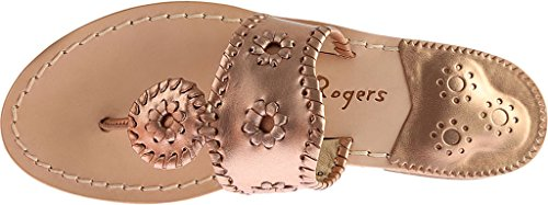 Navajo Gold Leather Women's Palm Beach Gold Classic Rose Jack Sandal Rose Rogers wIqHTT