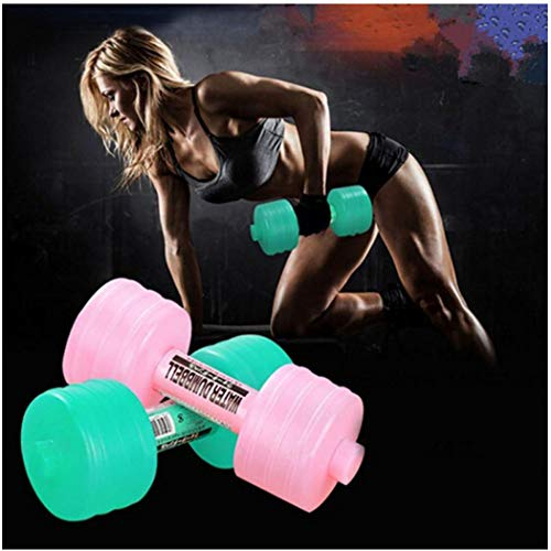 (Water-Filled Dumbbells,2 Pack Water Bottle Dumbbells Fitness Exercise Equipment for Women Lady Children(2.3lbs Each with Water,Random Color))