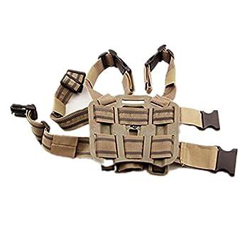 Negro haoYK Ajustable T/áctico Airsoft Pistola Gota Bolsa Holster Bolsa muslo Derecha Holster con compartimiento Bolsa Antorcha para Glock 17 19 22 23 31 32