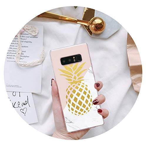 (Summer PineFruit Food Marble TPU Soft Silicone Phone Case for Samsung Galaxy S7 S6 Edge Plus S5 S9 S8 Plus case,A14,for Galaxy S6 Edge)