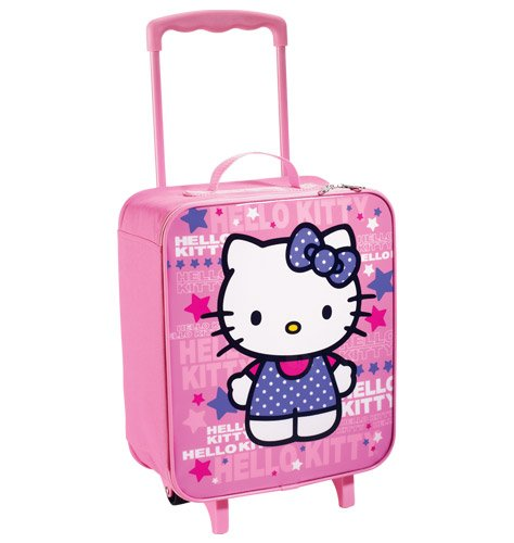 Hello Kitty Rolling Luggage Bag Backpack