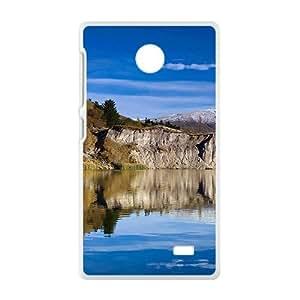 Blue Sky And Hills White Phone Case for Nokia Lumia X wangjiang maoyi
