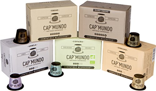 (Cap'Mundo Paris Nespresso Compatible Coffee Capsules (Complete Variety Pack) – French Artisanal Espresso (Complete Varieties, 50 Pods for OriginalLine Machines))