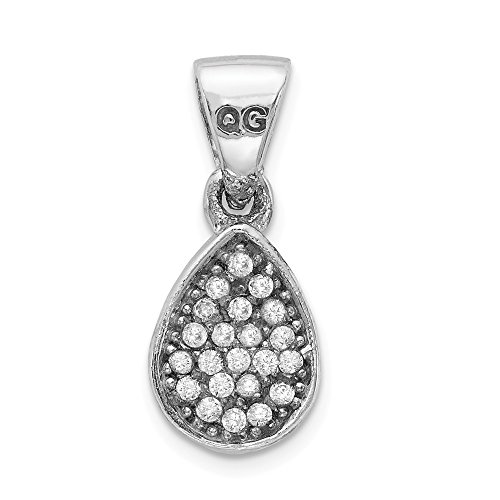 925 Sterling Silver Cubic Zirconia Cz Teardrop Pendant Charm Necklace Fine Jewelry Gifts For Women For Her