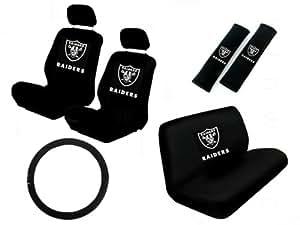 Amazon Com 11 Piece Nfl Auto Interior Gift Set Oakland