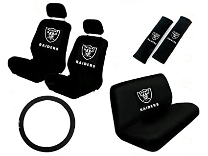 11 Piece NFL Auto Interior Gift Set   Oakland Raiders   A Set Of 2 Seat