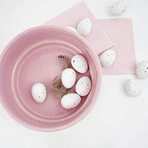 Impressionata Deko Schale Maryn aus Keramik rund rosa grau Dekoschale Keramikschale Pflanzschale Planzgef/ä/ß Wohndeko /Ø 18cm