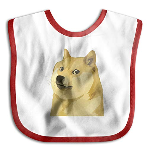 Doge Funny Baby Bibs Burp Infant Cloths Drool Toddler Teething Soft Absorbent]()