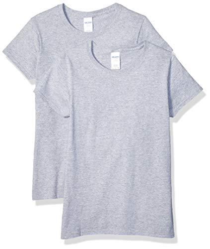 Gildan Women's Heavy Cotton Adult T-Shirt, 2-Pack, Sport Grey, X-Large