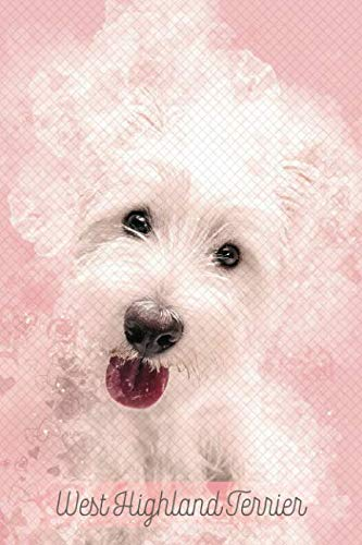 West Highland Terrier: Pink Notebook or Journal with Lines - Westie (Valentine's Day Pink Waffle -