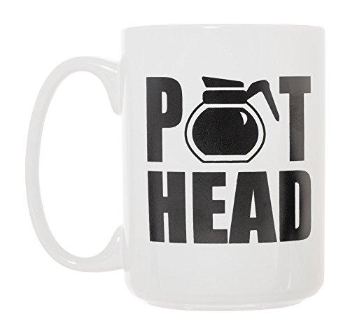 Pot Head Coffee Pot Mug 15 oz Deluxe Large Double-Sided Mug
