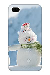 Inthebeauty GpnkKU-1123-hQukq Case For Iphone 4/4s With Nice Happy Snowman Appearance