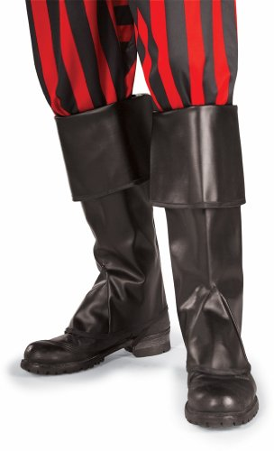 [Rubies High Pirate Boot Tops Halloween Costume Adult Size 6 Black] (Pirate Costumes Boot Covers)