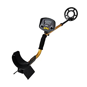 """PyleSport Metal Detector - Waterproof Search Coil Extendable Locating Arm 41.3"""" to 51.2"""" w/ Adjustable Sensitivity and Headphone Jack - Built-in Speaker w/ Detection Ping Alert Battery Operated PHMD53"""