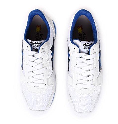 Atlantische Sterren Mannen Antarbba83r Wit / Blauw Suède Sneakers