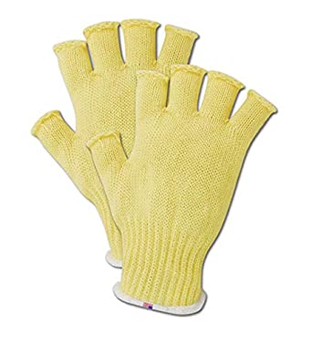 Magid Glove Safety 93kevrb Nf Magid Cut Master 93kevrbnf Standard Weight Fingerless Knit Gloves Made With Dupont Kevlar 1000 Yellow Men S Fits Large Pack Of 12 Amazon Com Industrial Scientific