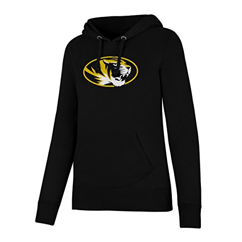 (NCAA Missouri Tigers Women's Ots Fleece Hoodie, Medium, Jet Black)