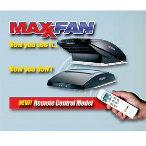 Maxxair 0007500K MaxxFan Smoke Grey Deluxe Remote Fan Lid