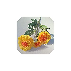 2Pcs/Lot Simulation European Daisy Branch Fake Plants Artificial Flowers Home Decoration Accessories Daisy Fake Flower Wall,Orange 81