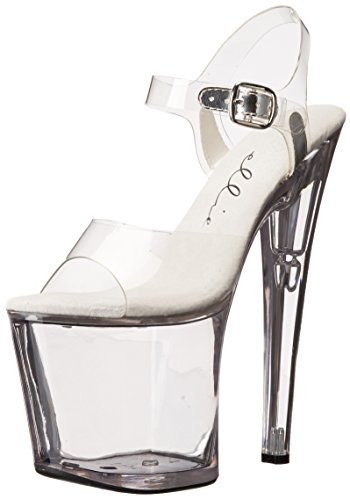 Shoes Transparent brook Ellie 821 Clear Womens Size 821 brook pdYRSqURnx
