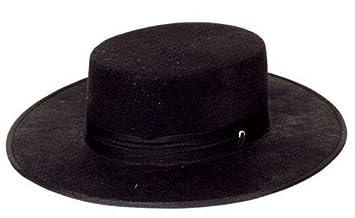 Cappello spagnolo nero im Stile di zorro  Amazon.it  Giochi e giocattoli ef76422edb3c