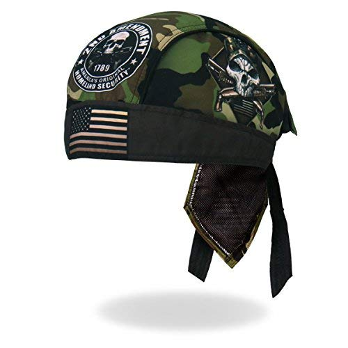 Hot Leathers American USA Flag Patriotic Camo Camouflage 2nd Second Amendment Head Wrap Durag Biker