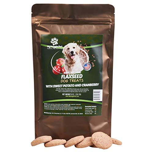 (100% Natural Flaxseed Dog Treats with Sweet Potato and Cranberry. Soy Free, Wheat Free, Corn Free, No Added Preservatives No added Salts or Sugars, No Artificial Preservatives Fiber Rich, Low Fat. )