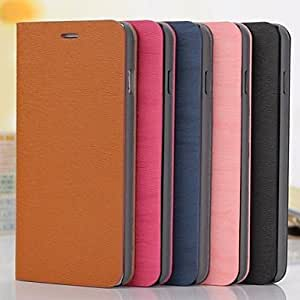 Fashionable PU Leather Full Body Cover with Stand for iPhone 6 Plus Phone Cover ,Color: Rose