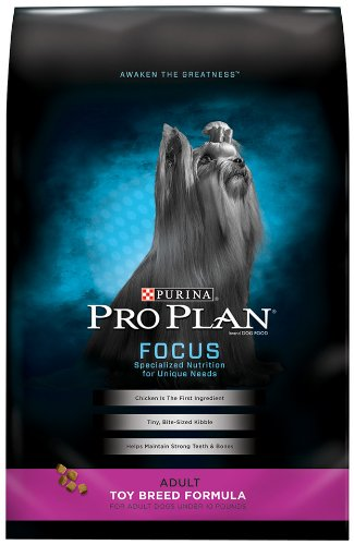 Purina Pro Plan High Protein Toy Breed Dry Dog Food, FOCUS Toy Breed Formula - 5 lb. Bag (Best Puppy Food For Toy Breeds)