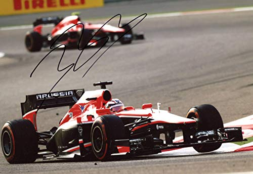 Jules Bianchi (+) FORMULA ONE RACING DRIVER FERRARI autograph, signed photo